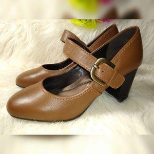 Easy Spirit Shoes - EASY SPIRIT MARY JANE  CAMEL HEELS  #7